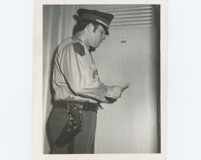 Vintage Snapshot Photo: Security Guard (611523)
