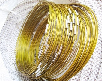 10pcs 18 inch bright gold stainless steel necklace chain with magnetic clasps