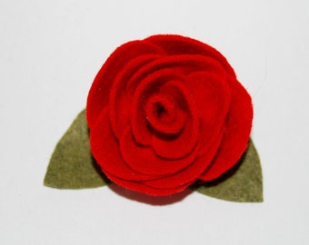 PDF Pattern - Wool Felt Rose Pin or Embellishment Tutorial - Instant Download