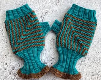 Modular Mitts Knitting Pattern, mitten knitting pattern, knitting patterns for women, mitten knits, hand knitting, digital download, gloves