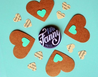 Jane Austen pin, I am Fanny Price from Mansfield Park