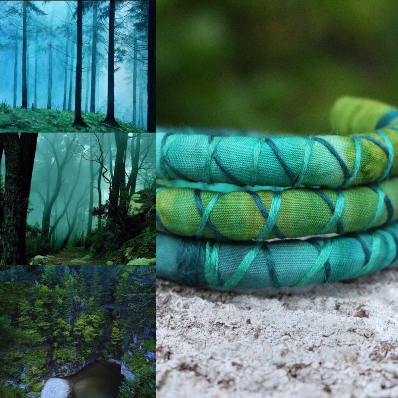 Mystic Forest Vegan SpiraLock for your dreadlocks. Original