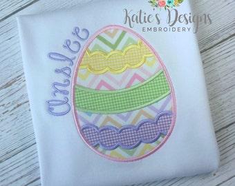 Easter Applique Shirt, Easter Egg Applique, Girls Easter Shirt, Easter, Girl, Girl Shirt, Easter Applique, Personalized, Monogrammed, Girls