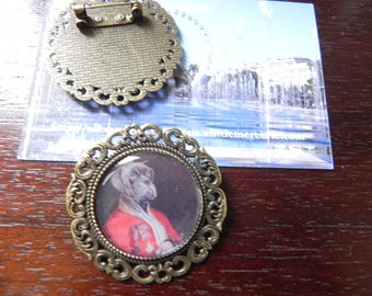ANIMALS COLLECTION: brooch cabochon resin 25 mm