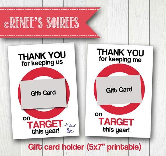 Printable GIFT CARD Holder For Teacher Coach Coworker