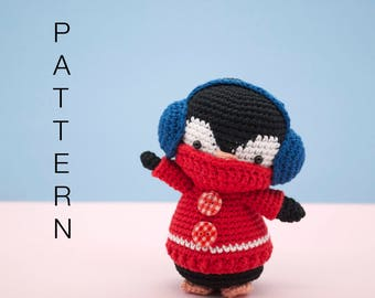 Amigurumi crochet cute penguin pattern - Kenny the penguin PATTERN ONLY (English)
