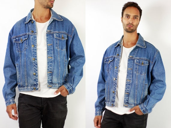 Denim Jacket Vintage Denim Jacket Oversize Jean Jacket 90s Denim Jacket 90s Jean Jacket Blue Jean Jacket Large Denim Jacket Grunge JJ251