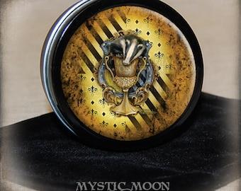 Potter Gift / Huffle Stitch Marker Tin / Notion Tin / Storage Tin / Pill Box / Gift Tin / Tin Box / HP / Wizardry / Witch / Loyal
