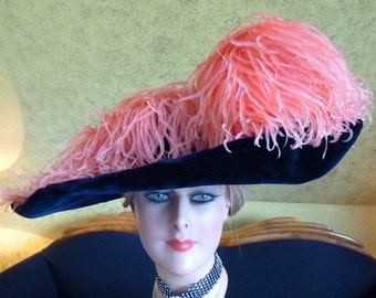 1912 ESTHER MEYER Titanic Era Hat, antique Hat, Edwardian Hat, Paris