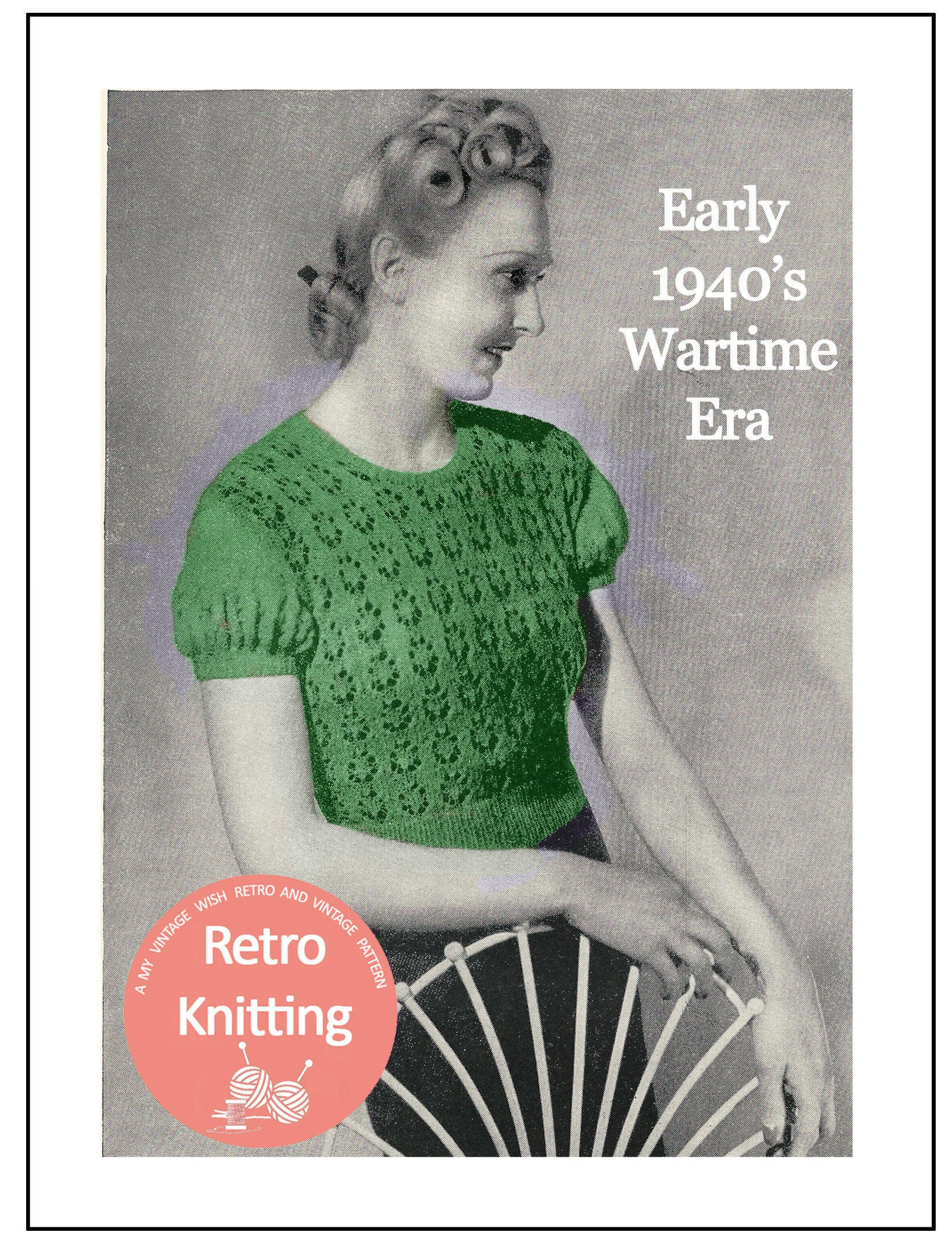 1940s Lace Sweater Vintage Knitting Pattern PDF Instant