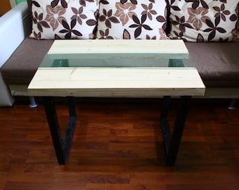 Wood Glass Table