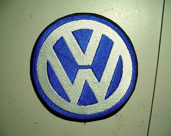 Volkswagen VW Embroidered Patch 3.75in, New for jacket, hat, vest