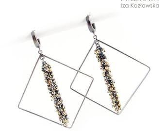 Hembs - silver earrings with hematite
