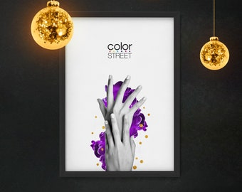 Color Street Decor, Contemporary Print, Color Street Art, Color Street Poster, Nail Polish Decoration, Digital Download