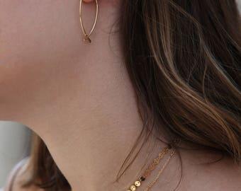 ASTRAEA small EARRINGS - Hoop earrings large drops, gold plated