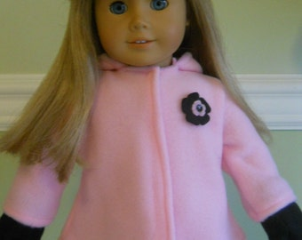 18 inch doll clothes american girl fleece jacket and mittens - Various Colors