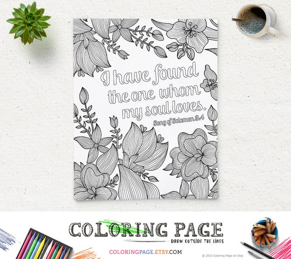 Coloring Page Printable Bible Verse Song Of Solomon 3:4