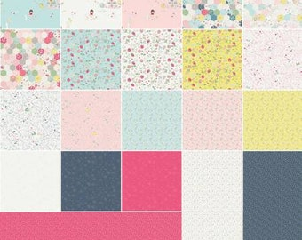 Serendipity 5 Inch Squares Charm Pack, 42 Pieces, Minki Kim, Riley Blake Designs, Precut Fabric, Quilt Fabric, Cotton Fabric, Novelty Fabric