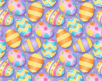 Hippity Hop Fabric by Henry Glass Easter Eggs