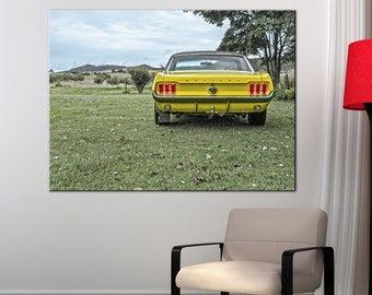 Ford Mustang Old Car Canvas Print wall art canvas print Ford Mustang sport car Wall Split Art Multi Panel Multi-Sized Canvas print