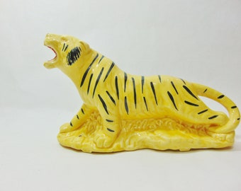 1940s, Vintage Planter, Indoor Planters, Figural Planter, Ceramic Planter, Ceramic Vase, Window Decor, Window Display, Yellow Tiger, Tiger