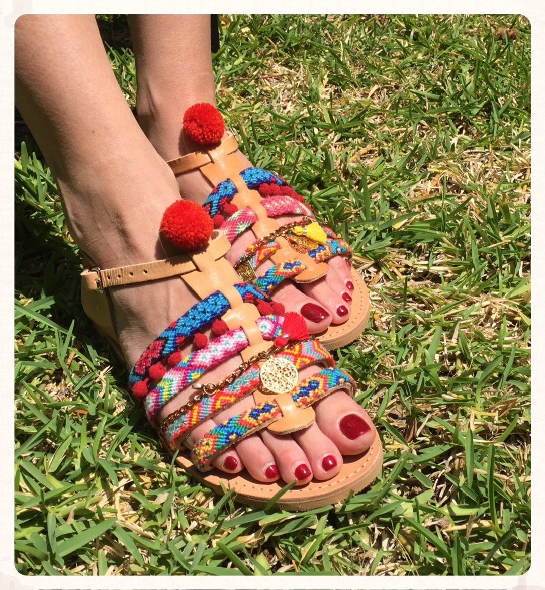 6c1cfa331512db Pom Pom Sandals  Diana   Spartan sandals made