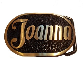 Vintage Joanna Name Belt Buckle - Womens - Personalized - Fathers Day Gift Idea