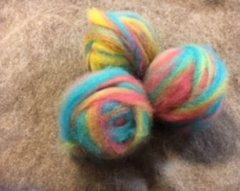 Dyed Border Leicester roving