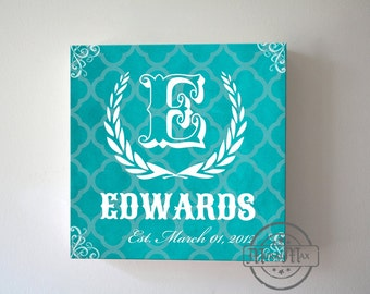 Unique Gift Personalized Canvas Sign, Wedding Anniversary Gift , Personalized Family Name Sign, Canvas Art, Christmas Gift,