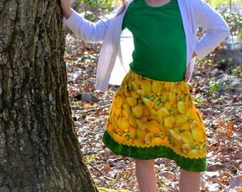 Let's made some lemonade  skirt  (18 mos, 2T,  3T, 4T, 5, 6, 7, 8, 10, 12)