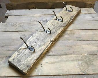 Rustic scaffold coat hooks