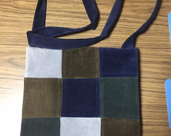 Corduroy patchwork purse