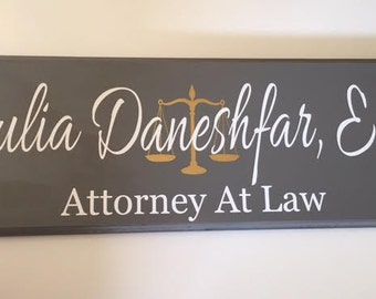 Business Sign, Lawyer Gift, Attorney Gift,Custom Business Sign, Office Sign, Business, Scales Of Justice