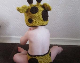Handmade Crocheted Baby Giraffe Costume/ Baby Giraffe Outfit/ Baby Halloween Costume/ Baby Photography Prop  Baby Giraffe Hat