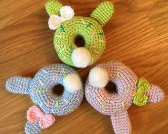 Crochet Bunny tail Doughnut