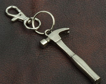 Hammer  key Chain ,  zinc cast and plated, sold by each