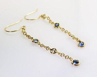 Sapphire /Diamonds earrings