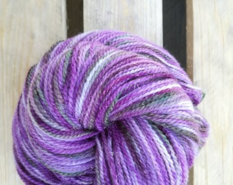 Wisteria Handdyed Sparkle sock yarn – Fingering / sport - laine teinte stellina knitting tricot