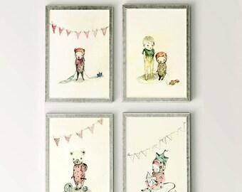 Pipino - Sets & Collections - Holli - Nursery Wall Art - Nursery Decor - Childrens Art - Kids Wall Art - Nursery Art