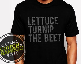 Lettuce turnip the beet ® trademark brand OFFICIAL SITE - black bamboo and ORGANIC cotton t shirt with distressed logo - music festival, edm