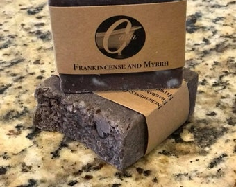 Frankincense and Myrrh Artisan Bar Soap