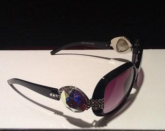Sunglasses with Swarovski crystals