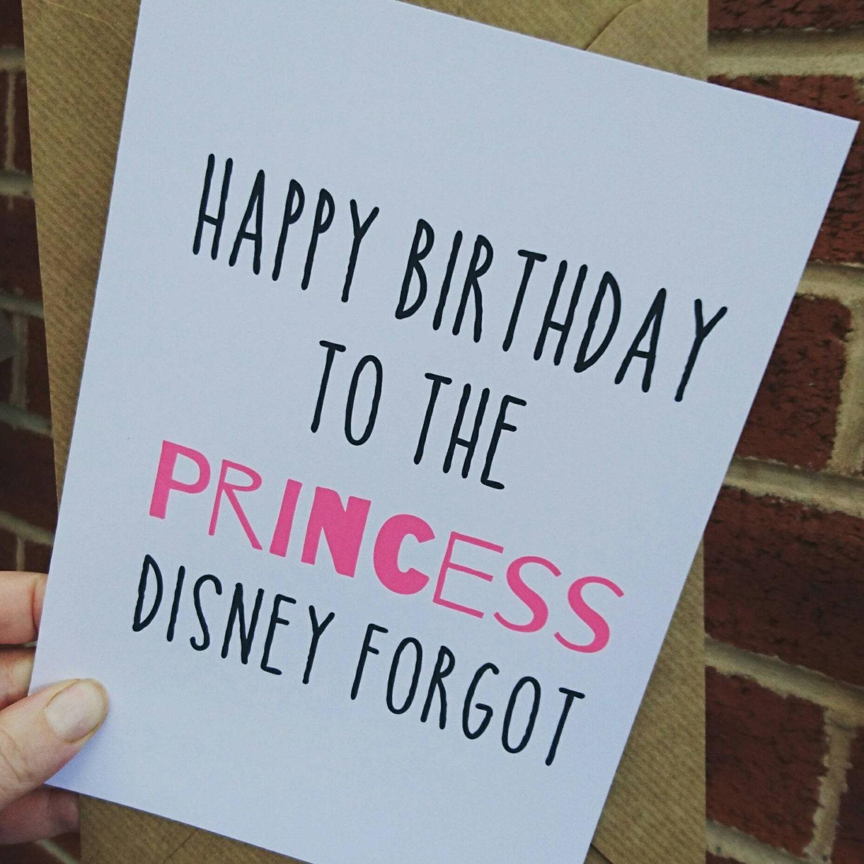 Princess birthday card / Happy Birthday to the Princess Disney