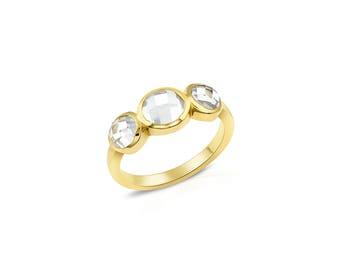 Topaz Three Stone Ring