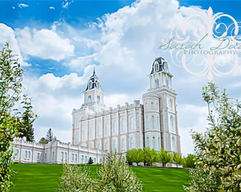 Manti, Utah LDS Mormon Temple Oil Painting