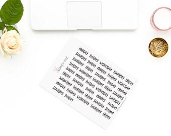 Perky Week title-eng-Stickerset-Watercolour sticker-Pretty planning-scrapbooking-bullet journaling