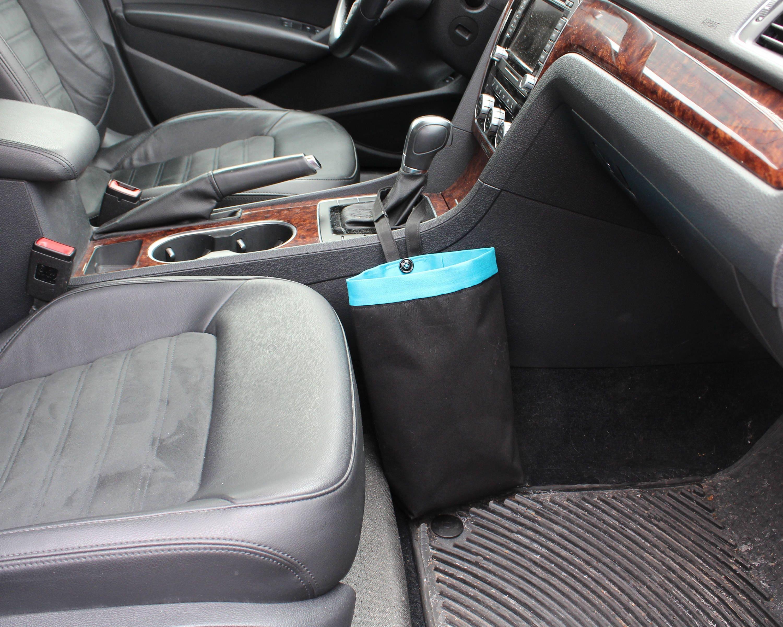 Car Trash Can BLACK Men Gift for Him Car Litter Bag Auto