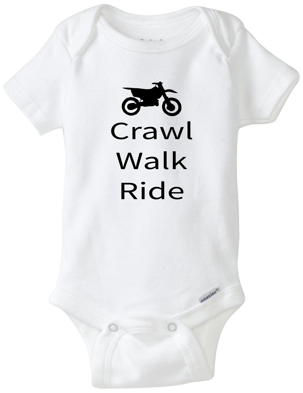 Crawl walk ride dirt bike onesie dirt bike buddy riding
