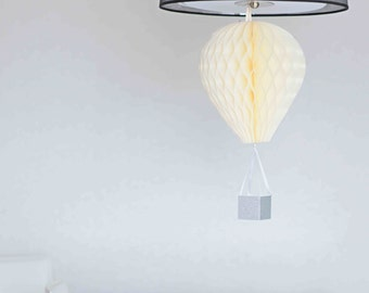 Hot Air Balloon Decoration- paper honeycomb -Baby Shower Centrepiece - Bridal Shower Decor - Baby Shower Gift - Nursery Decor - custom color