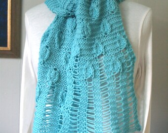Mint Leaves PDF Hand Knitting Scarf Pattern